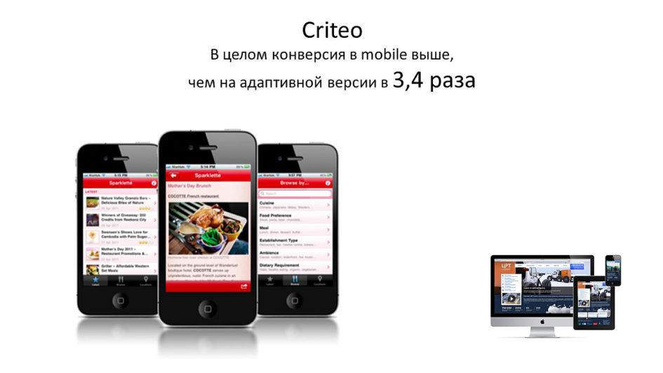 Конверсия в mobile