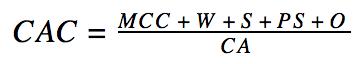 E-commerce CAC формула расчёта
