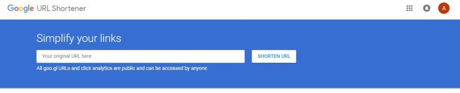Google URL Shortener клик по ссылке