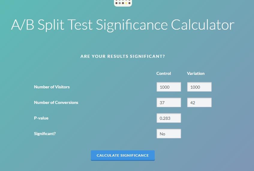 AB test пример