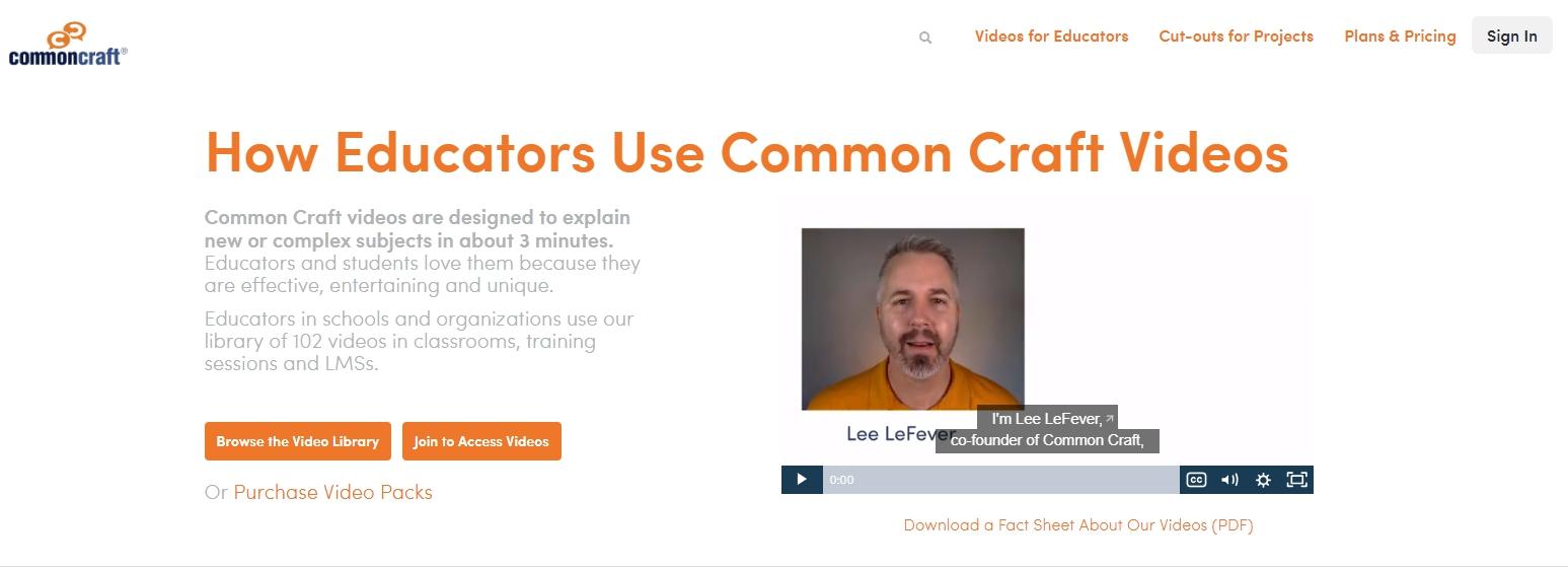 Онбординг примеры: Common Craft