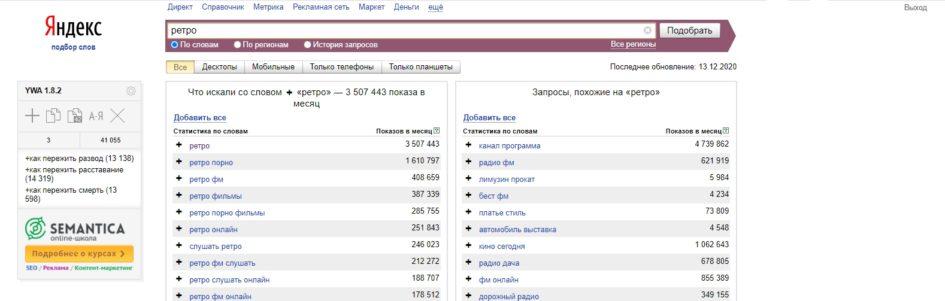 Что ищут в Яндексе
